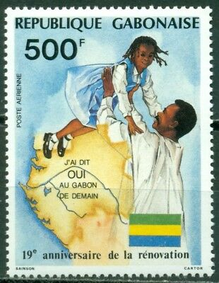 Gabon Scott #C287 MNH The Renewal Map Flag CV$6+
