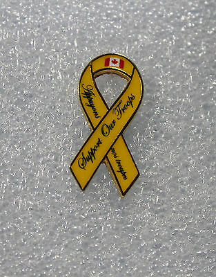 Support Our Troops Yellow Ribbon Pin / Hat / Lapel Pin