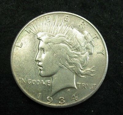1934 S -  PEACE SILVER Dollar  -  VF  Coin! - Better Date!
