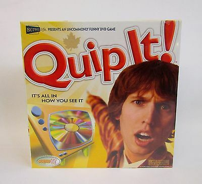 * Quip It * DVD Board Game * New Old Stock * Factory Sealed *