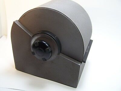 Metal Rolodex Rotory File Box Industrial Zephyr Model 5350 Locks but No Key Vtg