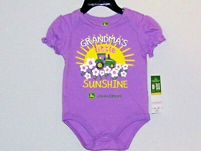 John Deere Girls lavender one-piece w///'GRANDPA/'S LITTLE GIRL/'