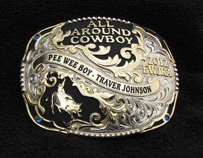 Rodeo Cowboy Trophy Buckle Champion All Around