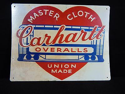 Carhartt Overalls Union Made Vintage Look Reproduction 8x11 Metal Sign 8120738