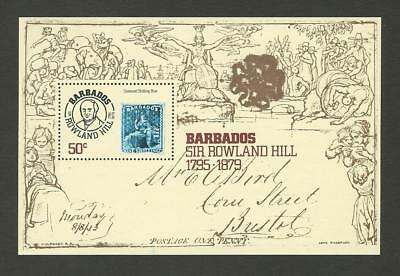 Barbados MNH 1979 The 100th Anniversary of the Death of Sir Rowland Hill M/S