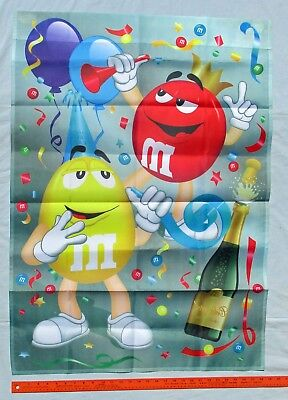 Red Yellow M & M Candy Large New Year's Eve Garden Flag by Willabee & Ward 2009