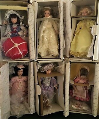 Lot of 6 DANBURY MINT - The Storybook Doll Collection Dolls - w/All Accessories