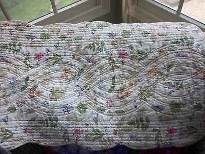 Longaberger Botanical Field Quilted Table Runner  RETIRED  54 x 17