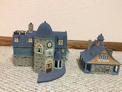 """REDUCED Dept. 56 """"Bay Street Shops"""" from the Seasons Bay Collection 53301"""
