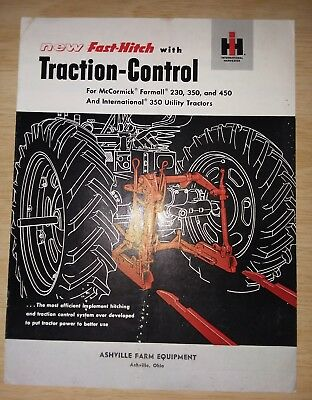 McCormick International Harvester fast hitch Traction Control brochure