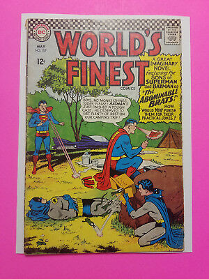 """World's Finest #157 Silver Age DC Comics Book VG (4.0) """"The Abominable Brats!"""""""