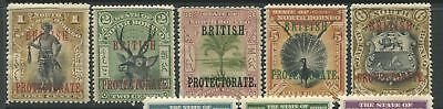 North Borneo 1901 1¢, 2¢, 3¢, 5¢, & 6¢ overprinted British Protectorate mint o.g