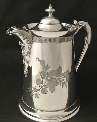 Silver Plate Aesthetic Hot Water Pot Ice Water Pitcher Coffee Pot Tea Pot