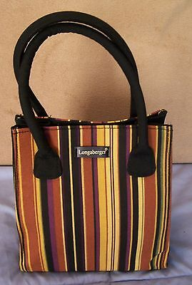 Longaberger Autumn Stripe Small Tote/Lunch Bag New Without Tags