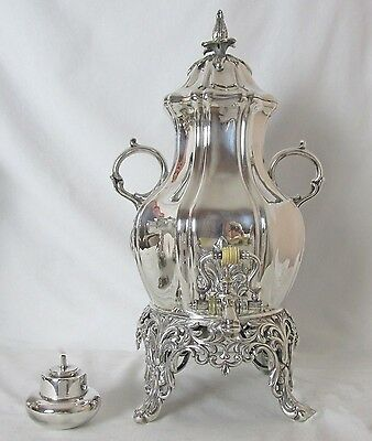 Early Reed & Barton Silver Plated Samovar Hot Water Urn 23 Cups Spectacular Pc
