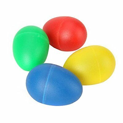 4 Colors Plastic Percussion Musical Egg Maracas Egg Shakers Kids Toys M7S3