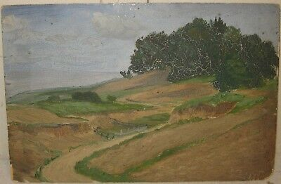 Antique 1905 ERNST THEODORE ZUPPINGER German Countryside Landscape OIL PAINTING