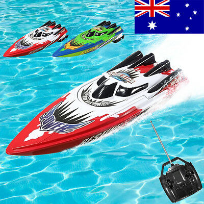 AU Racing Remote Control Boat Ship Radio Motor High Speed RC Outdoor Toy Gift