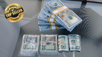 Top Rated Prop Money 5 $10,000 TRUE BLUE STACKS + GIFTS (for movies & pranks)