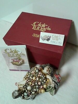 """Harmony Kingdom - Clair De Lune / """"Colette & Cat"""" Limited Edition with Box"""