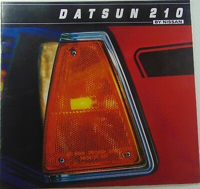 1982 Datsun  B-210 Color Sales Brochure From Nissan
