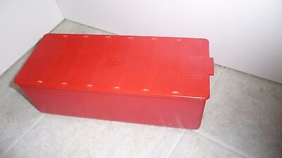 1 ALLADIN VANGUARD Red Sandwich Carry Case Only with Slide Lid Used