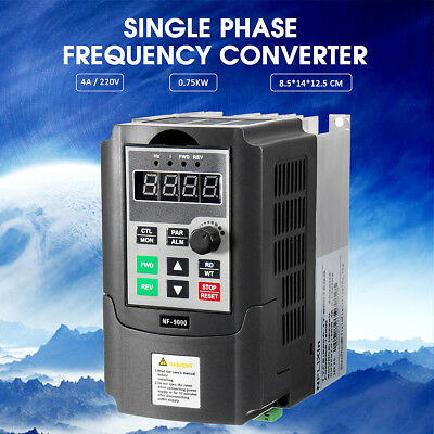 Frequency Converter 4A Single Phase 3PH Variable Output Speed Drive 220V 0.75KW