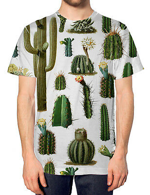 !!CLEARANCE SALE!! Cactus Fashion All Over T Shirt Top Plant !!CHEAP STOCK!!CEM1