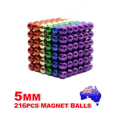 3mm/5mm Magnetic Bucky Balls Magnet Spacer Beads Cube  Child Adult DIY Toys AU