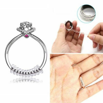 5/10X Clear Plastic Finger Ring Size Adjuster Tightener Insert Guard Resizing