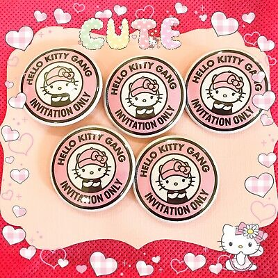 Hello Kitty Gang Pin Badges Buttons
