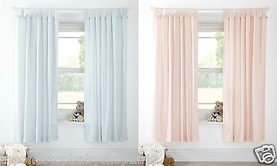 M & P Girls Boys Pink Blue Night Time Hugs Nursery Bedroom Curtains £80 New