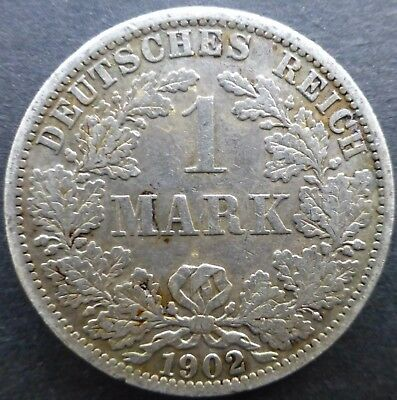 1902 A  Germany One Mark Silver coin