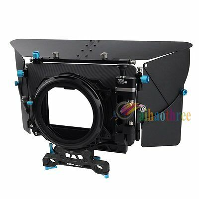 FOTGA D500III Matte Box For DSLR Video Camera 15mm-19mm Rod Rig Follow Focus