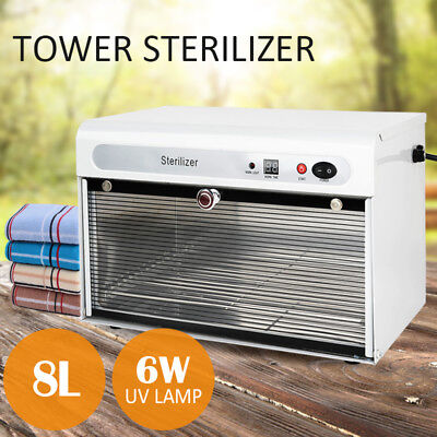 UV Towel Tool Sterilizer Warmer Cabinet Spa Facial Disinfection Salon Beauty 8L