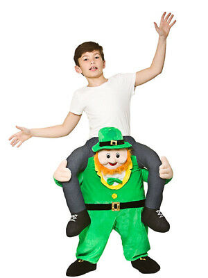 Child Funny Carry Me Leprechaun St Patricks Day Irish Fancy Dress Mascot Costume