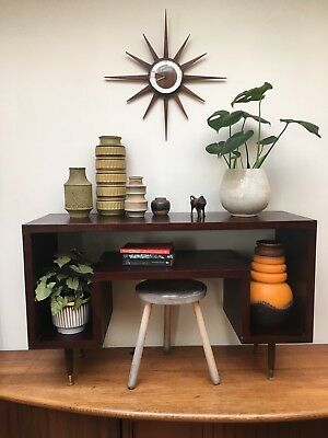 Vintage Retro Styled Recycled Study Desk Sideboard Shelving Unit