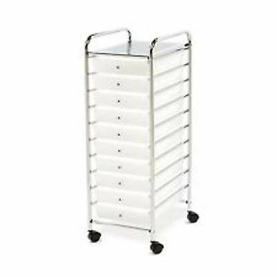 Messagestor 10 Drawer Rolling Organiser Trolley Crafts,Office,Tools,Home,Garage