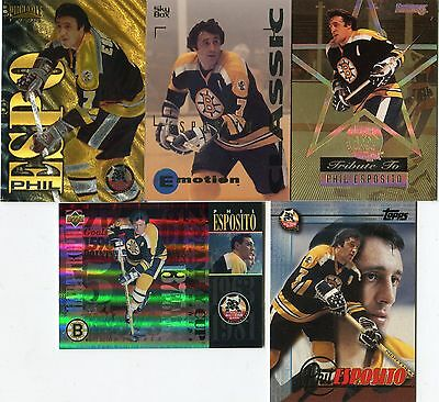 A Tribute to Phil Esposito HOF ~ Lot of 5 Different Espo Cards