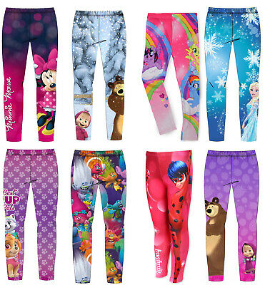 Girls Character Leggings - Winter Warm Fleecy Lining