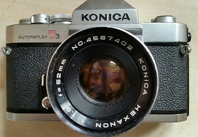 konica T3 and Hexanon 52mm 1.8 lens