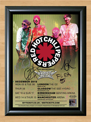 Red Hot Chili Peppers Tour Signed Autographed A4 Photo Poster Music Memorabilia