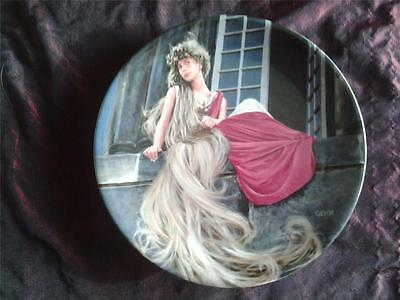 'rapunzel' Plate By Charles Gehm From The Grims Fairy Tales Collection
