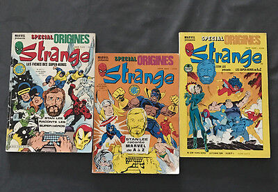 STRANGE Spécial Origines (Lot) 169 bis, 187 bis, 238 bis (LUG & SEMIC) Marvel EM