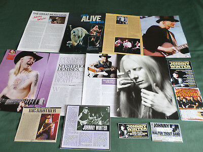 Johnny Winter - Rock Music  - Clippings /cutting Pack