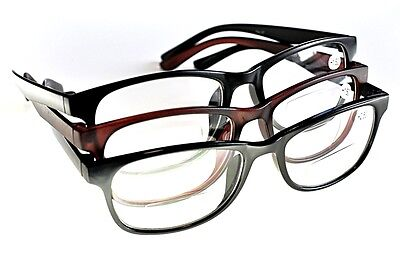TN37 Fashion Retro Bifocal Clear Lens Reading Glasses 3 Colours +1.5+2.0+2.5+3.0