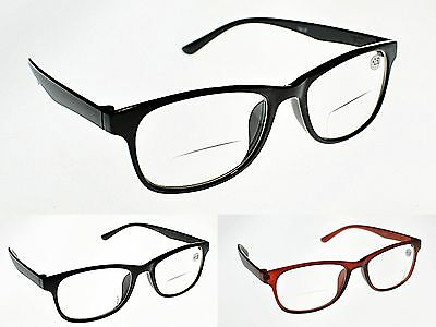 TN37 Retro Bifocal Clear Lens Reading Glasses +1.0+1.25+1.5+1.75+2.0+2.5+2.75