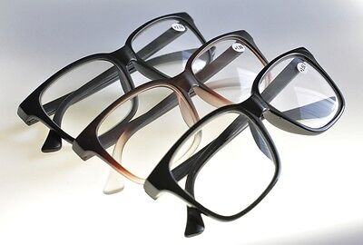 Bold OVER-SIZED Stylish Funky Retro Geek Fashion Reading Glasses 3 Colours TN44