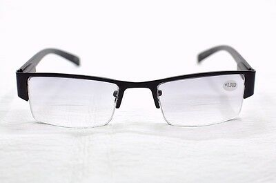 SR24 Black Bifocal 2in1 Tinted Spring Hinged Reading Glasses+1.0+1.5+2.0+2.5