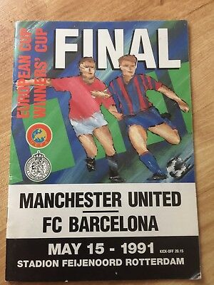 Manchester United v Barcelona European Cup Winners Cup Final 1991 Programme